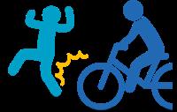 歩行者と自転車の交通事故